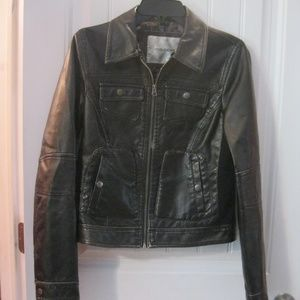 Maurices Faux Leather Black Lightweight Jacket Sm